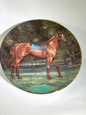 "Danbury Mint ""Man O' War"" Champion Thoroughbred Collectible Plate"