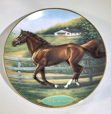 "Danbury Mint ""Whirlaway"" Champion Thoroughbred Racehorse Collectible Plate"