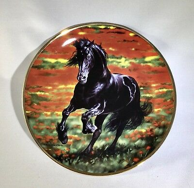 "Danbury Mint Friesian Horse ""Bold And Beautiful"" Collectible Plate"
