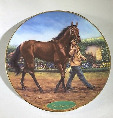 "Danbury Mint ""Buckpasser"" Champion Thoroughbred Collectible Plate"
