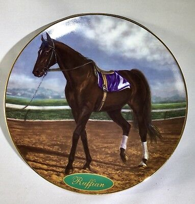 "Danbury Mint ""Ruffian"" Champion Thoroughbred Racehorse Collectible Plate"