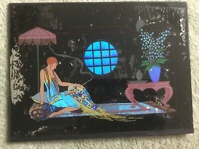 Original Art Deco Buttefly Wing Signed Picture