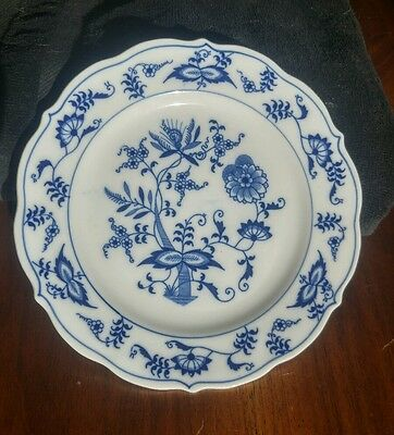 """Blue Danube Onion Luncheon Plate 6 3/4"""" USA registered patent"""