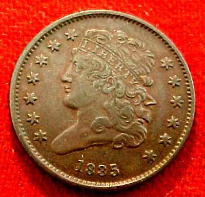 1835 Half Cent......xf Original.............min. Bid .01 & No Reserve!