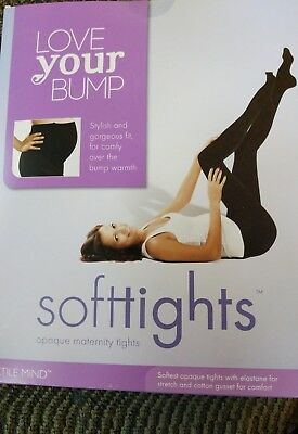 Love your Bump Softtights Maternity Opaque Black Size 1 NIB