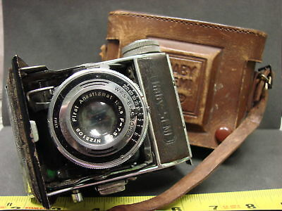 VTG Early Half 1900's Baby Semi First Camera by Wester with Leather Holder