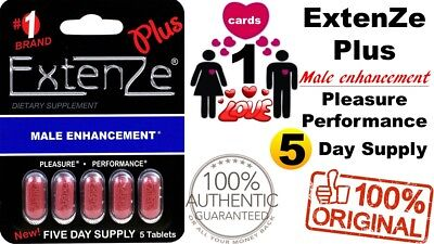 Genuine #1 Brand ExtenZe Plus Male Enhancement Pleasure, Performance USA 04/2020