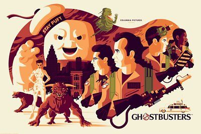 Ghostbusters Poster Print by Tom Whalen - Mondo SDCC LE 375 - IN HAND