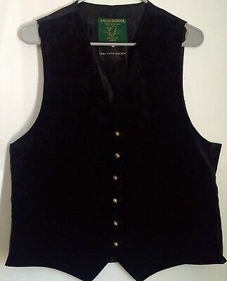 Favourbrook Jermyn Street London Black Mens Vest Waistcoat Size 44Uk