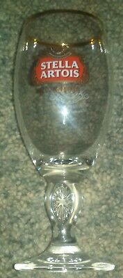 STELLA ARTOIS Beer Goblet (Chalice) w/ Gold Rim- 15cl (5.07oz)- 6 1/4 inches