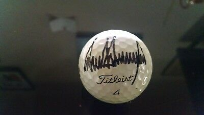Donald Trump Signed Golf Ball From Trump Towers In New York