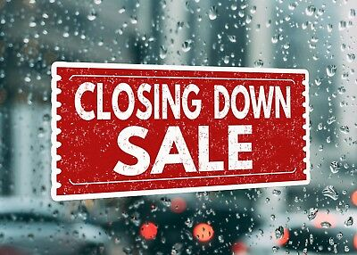 Closing Down Sale Large Self Adhesive Window Shop Sign 3493