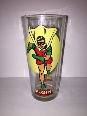 Robin Super Series Pepsi Collector Series 1976 Six Inch Glass Tumbler MINTY !