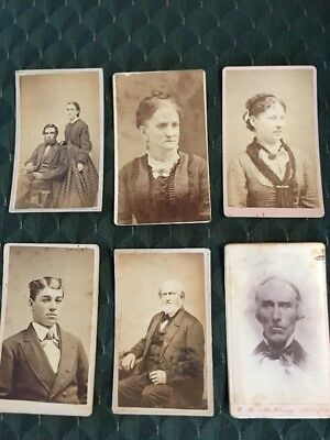 1800'S Old Vintage Photograph Photo Picture Cabinet Card lot 6 pc  FREE SHIPPING