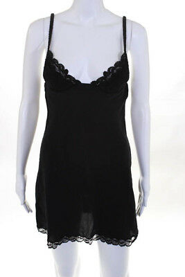 Malizia By La Perla Black Silk Lace Trim Teddie Size 2