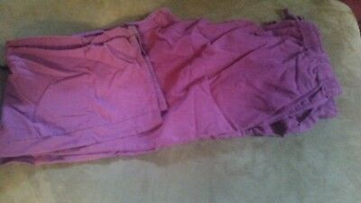 scrub pants ladies size 2x Plum color