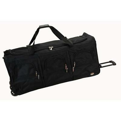 Rockland Travel Luggage 40 Inch Rolling Duffle Garment Bag, Black, X-Large New