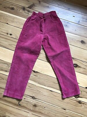 Retro Hot Pink Girls Size 5 Corduroy Jeans Excellent Condition Vintage Childhood