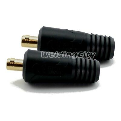 2-pk Welding Cable Connector Male 1/0-3/0 Twist-lock Dinse 134460 for Miller