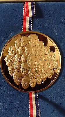 The Franklin Mint 1976 Bicentennial Coin Proof Bronze Medal by Gilroy Roberts