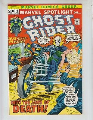 "Marvel Spotlight 10 VFNM (9.0) 6/73 Ghost Rider ""Into the Jaws of Death!"""