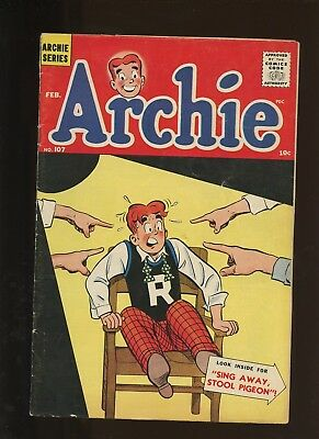 Archie 107 VG+ 4.5 * 1 Book Lot * Silver Age Archie! Betty & Veronica! Riverdale