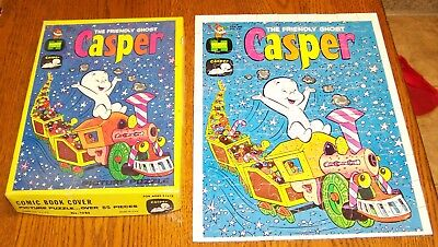 1960's Casper The Friendly Ghost Comic Book Cover Jigsaw Puzzle-Complete