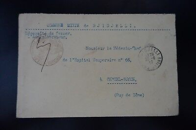 Algeria Letter Cover Town Hall Of Kolwezi 1917 Constantine