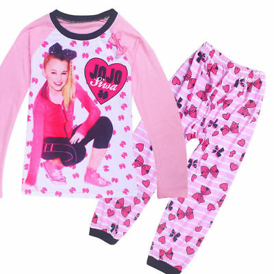 JOJO SIWA Girls Long Sleeve Pyjamas Top and Pants Clothes set PJ'S Size 4-11