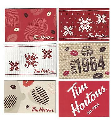 ( 6 ) Different USA Tim Hortons Gift Card Holder's