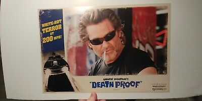 Original Quentin Tarantino's Death Proof lobby card 18 x 12