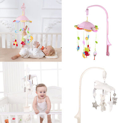 Baby Rotary Mobile Crib Bed Bell Toy Windup Movement Music Box with Lullaby