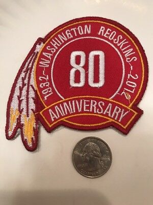 """Washington Redskins 80th Anniversary embroidered iron on patch 3.5"""" X 3"""""""