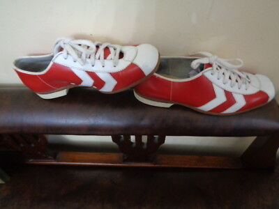 Retro Red & White Bowling Shoes By John Frith