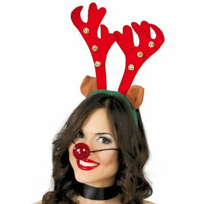 192 X REINDEER ANTLERS ON HEADBAND CHRISTMAS FANCY DRESS OFFICE XMAS PARTY STAG