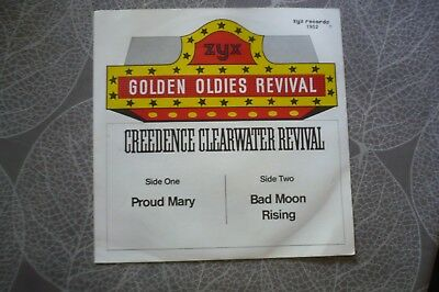 """7""""single Creedence Clearwater Revival Proud Mary - Golden Oldies Revival-Zyx"""