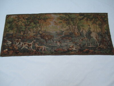 Old French / Belgium Tapestry Wall Hanging - 72 x 173 cm ( 4439 )