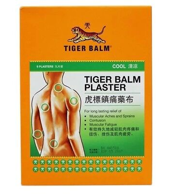 Tiger balm plaster cool x 9 pieces