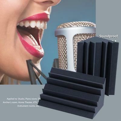 1/4pcs Studio Acoustic Foam Corner Bass Trap Sound Absorption Treatment Proofing