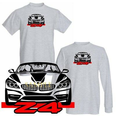 BMW Z4 Z 4 Convertible New Model Sports Car Graphic Art Gray T Shirt S-3X