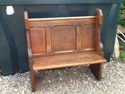 "Vintage pew bench 1800's 39.5"" long very solid , lovely size to fit anywhere,"