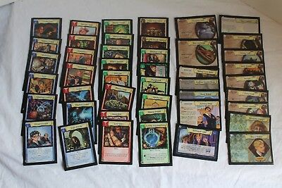Lot of 45 Harry Potter Collectible Trading Card Game Cards TCG w/ sleeves