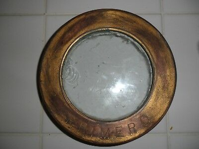 """Antique Brass Ships Porthole with Thick Glass 6 outside dia. 4"""" Glass Diameter"""