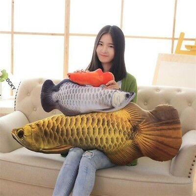 Fish Plush Toy Stuffed Animal Doll Creative Pillow Cushion Decor Birthday Gift