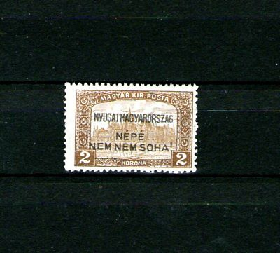 West-Ungarn IV.1921..MH. Revolutions as.Ungarn.Hungary.Hongrie.Hungria. 2k