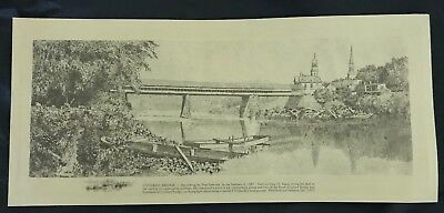 Southend of Covered Bridge & Covered Bridge by Paul Sawyier RARE! LIMITED PRINTS