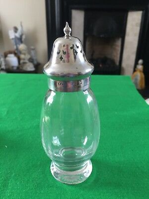 Epns And Glass Sugar Shaker, Made In England