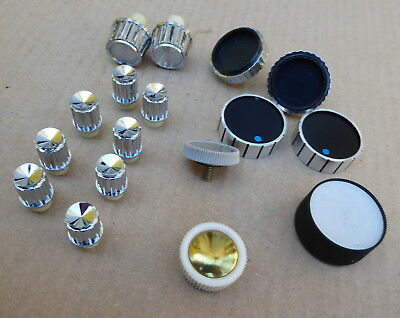 Collection of 1970s vintage control knobs, Roberts etc.