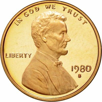 [#430703] Coin, United States, Lincoln Cent, Cent, 1980, U.S. Mint, San