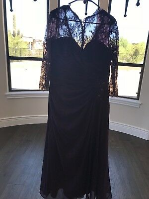 Jordan Fashions  Caterina Collection Formal Eggplant Dress size 10 NWOT